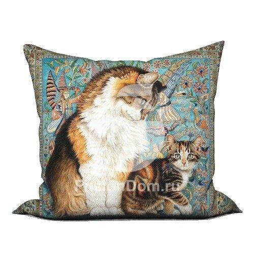 """Декоративное Декоративная подушка """"Кошка с котенком ..."""